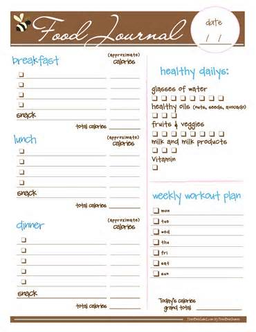 Irresistible image within printable fitness journal
